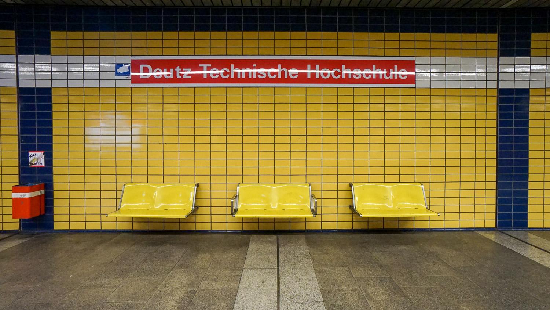 Köln, U-Bahn-Haltestelle Deutz Technische Hochschule