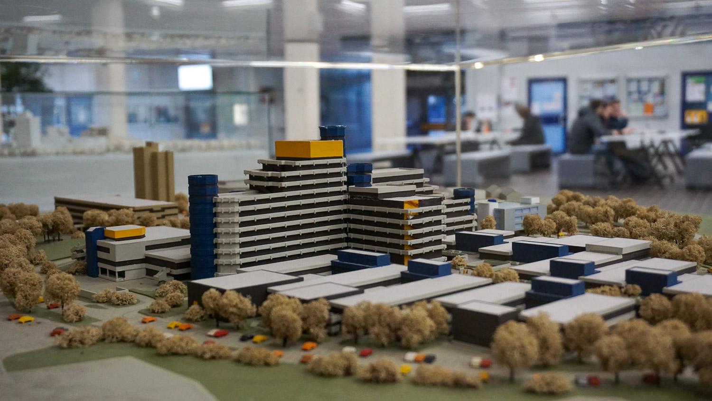 Modell des Campus Deutz in Köln