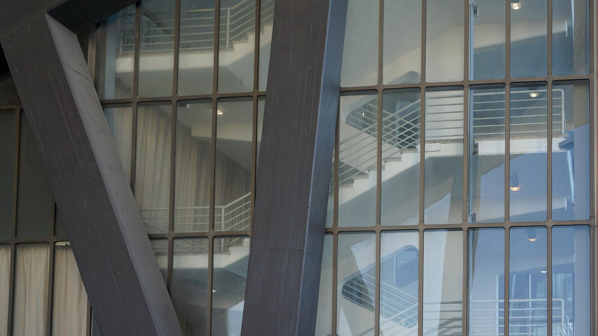 Detailansicht Treppenhaus der Grugahalle in Essen
