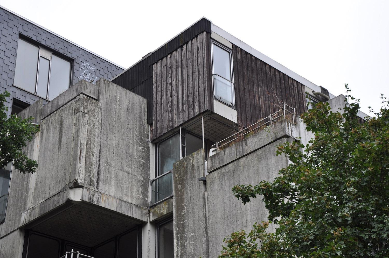 Balkondetail Habiflex-Gebäude in Wulfen
